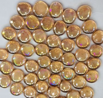 Decorative Round Glass 50 GEMS NUGGETS STONES - PINK Diameter 3cm